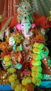 Eco-Ganapati - flower decoration
